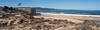 A beautiful sunny day and a view of the Monterey Peninsula, from Seaside.