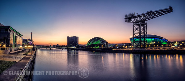 Sunset on Clydeside