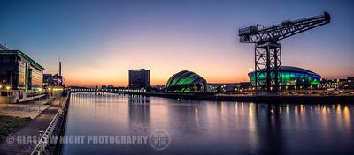 Sunset on Clydeside