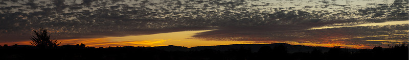 This sunset behind the Monterey Peninsula hill was viewed from Fort Ord.