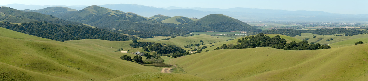 The rolling hills between the Salinas Valley and the town of San Juan Bautista are the homes for many ranchers.