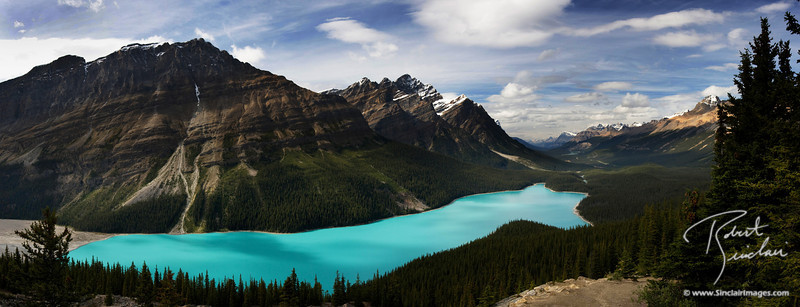 Peyto Lake from Bow Summit in Banff National Park, BC