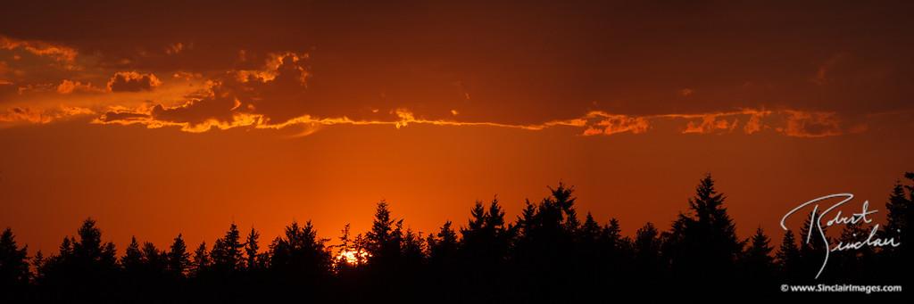 Fiery Glow as the Sun Slips Away
