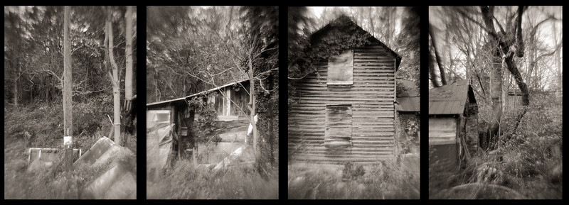 House on Plank Road Tetraptych