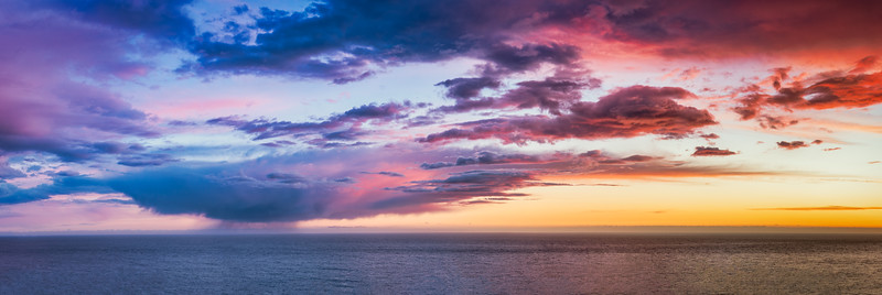 Sunset Panorama, Sea Ranch, California