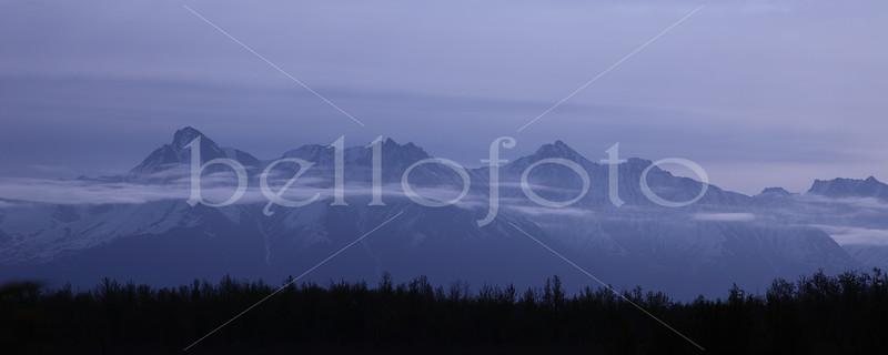 """Wispy Clouded Mountain"" - Alaska"