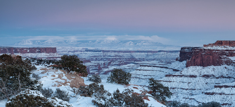 La Sal Mountains as seen from Canyonlands NP