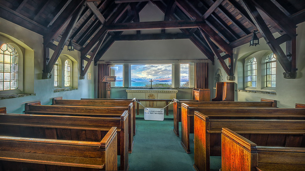 Church of the Good Shepherd Interior, Lake Tekapo, New Zealand