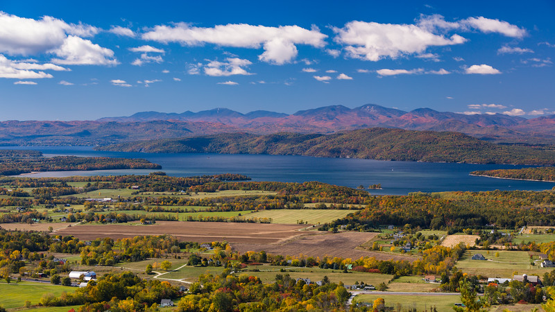 Adirondacks from Mt. Philo,VT