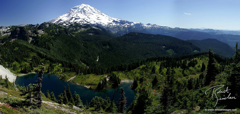 Mt. Rainier as viewed from Tolme Peak