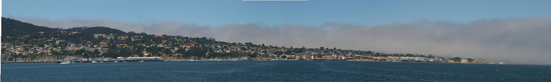 This is the Monterey Peninsula.  The Point Pinos Lighthouse is appropriately covered with fog.