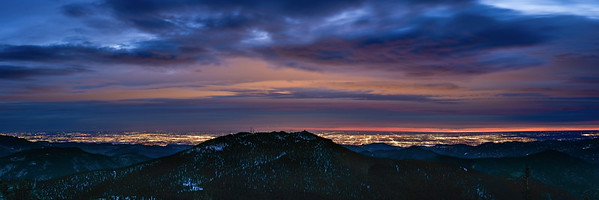 Chief Mountain Overview of Denver morning lights