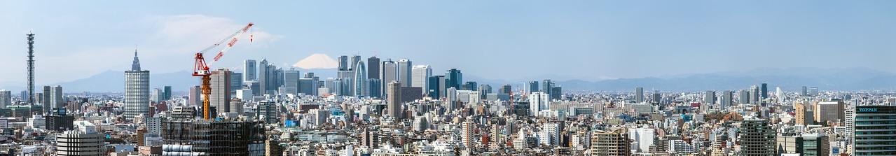 Shinjuku Skyline with Fujisan