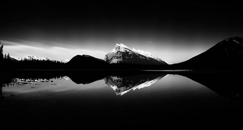 Vermillion Lake #1 Sunset B&W