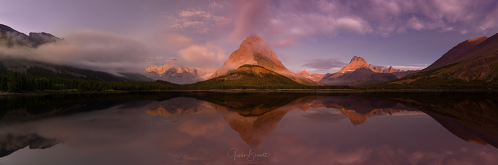 Calm morning at Swiftcurrent Lake