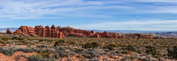 Sandstone Fins - Arches National Park
