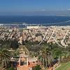 Israel's Haifa seaport panorama
