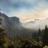 Smokey Yosemite National Park from Tunnel view