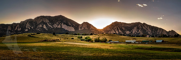 Flatirons Sunset Panorama #2