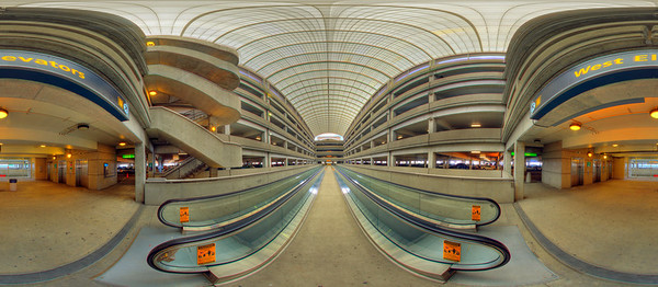 Hi Quality panoramas of Port Columbus International Airport (CMH) - West end of Parking Garage. Interactive QuickTime VR tours of these images can be found at:  http://www.columbusvirtualtour.com. (© James D. DeCamp | http://www.JamesDeCamp.com | 614-367-6366)