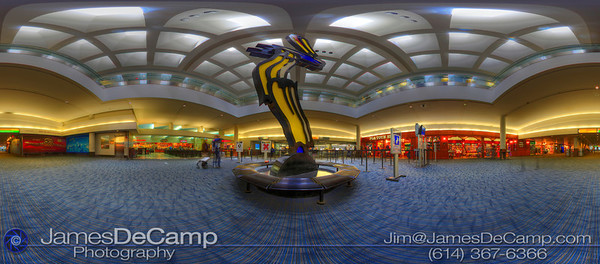 Hi Quality panoramas of Port Columbus International Airport (CMH) - Brush Strokes in Flight. Interactive QuickTime VR tours of these images can be found at:  http://www.columbusvirtualtour.com. (© James D. DeCamp | http://www.JamesDeCamp.com | 614-367-6366)