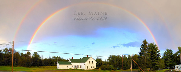 Double Rainbow, Lee, Maine