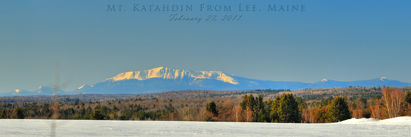 Mt. Katahdin from Lee, Maine