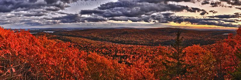 Sunset on Almanac Mountain, Springfield, Maine