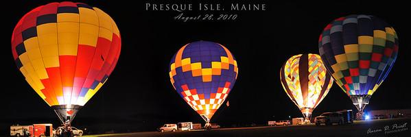 Hot Air Balloon Festival, Presque Isle, Maine