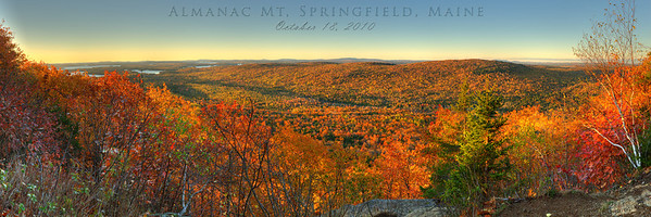 Sunrise on Almanac Mountain, Springfield, Maine