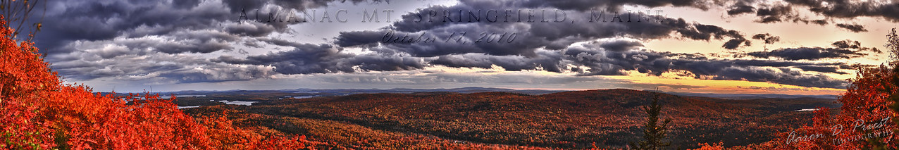 Sunset on Almanac Mountain, Springfield, Maine
