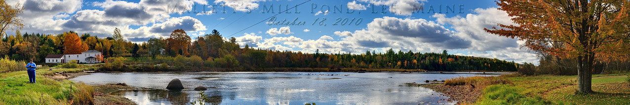 Mallett's Mill Pond, Lee, Maine