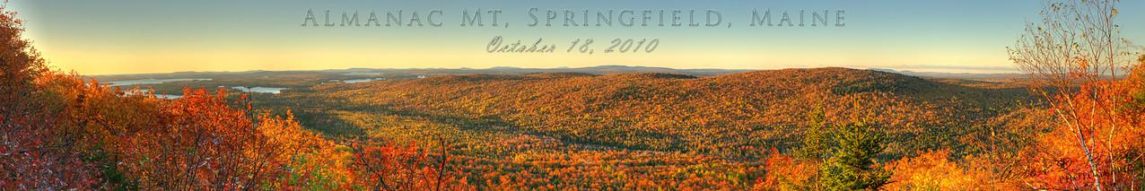 Sunrise on Almanac Mountain, Springfield, Maine
