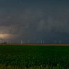 Windmills, Storm, Illinois Corn Fields
