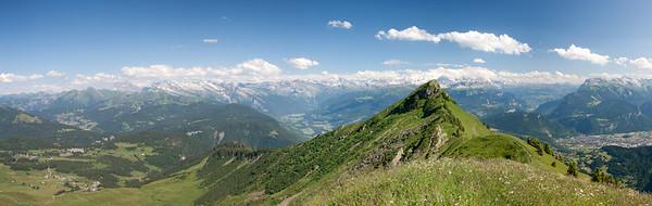 Pointe de Marcellaz et Massif du Mt Blanc (Hte Savoie)