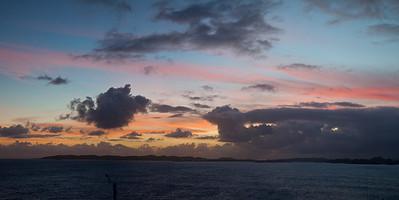 Sunset....Leaving Dominica Caribbean  dominica