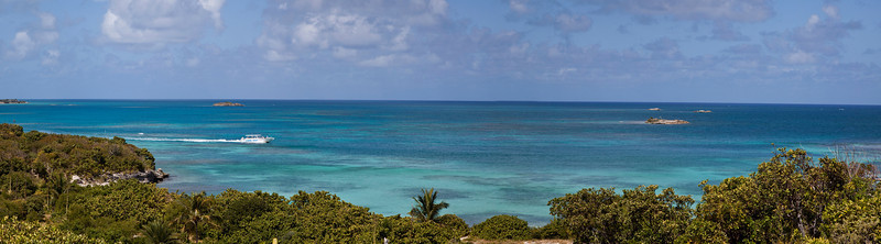 View from Island next to Antigua Caribbean  antigua