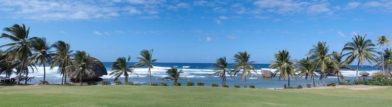 Panorama of Bathsheba Caribbean  Barbados