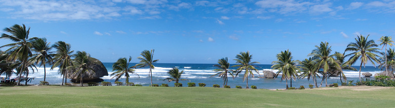 Panorama of Bathsheba Caribbean  Barbados