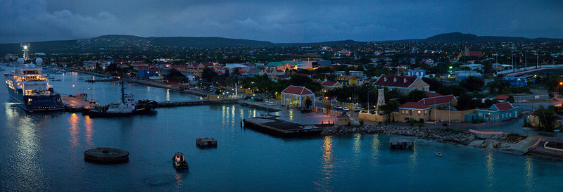 After sunset in Bonaire Caribbean