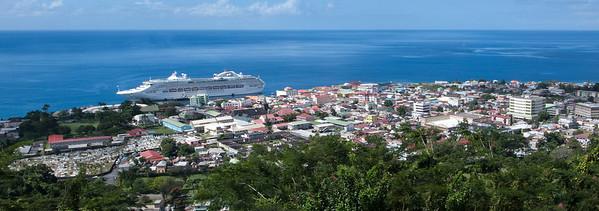 Panorama of Dominica Caribbean  dominica