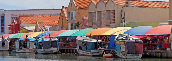 Curacao, Fish and Vegetable market Caribbean