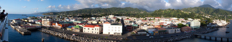 Dominica from Cruise ship Caribbean  dominica
