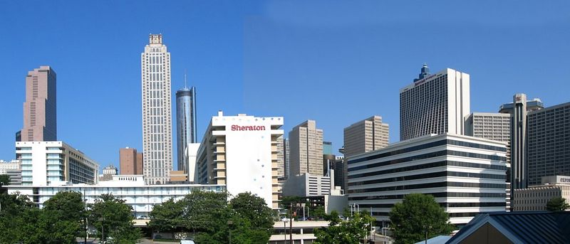 Panorama of Atlanta from our hotel.