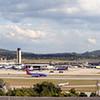 BHM pano with Sothwest  plane landing Taken from Coke plant.