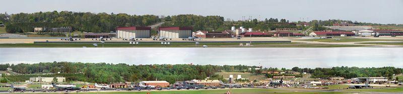 Alabama Air National Guard. Top, current. Bottom, Air show about 1992