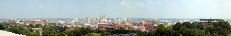 St Vincents' Hospital and downtown Birmingham from 1100 27th St S
