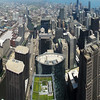 View from 103 floor of Willis Tower (formerly Sears tower) Looking North. Five Portrait images taken with Canon G10, hand held, stitched with AutoPano Giga.