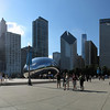 """Cloud Gate or """"The Bean"""" in Millennium Park, Chicago. Polished Stainless Steel.<br /> Five portrait images taken with Canon G10, stitched with AutoPano Giga"""