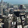 View from 103 floor of Willis Tower (formerly Sears tower) Looking East. Four Portrait images taken with Canon G10, hand held, stitched with AutoPano Giga.